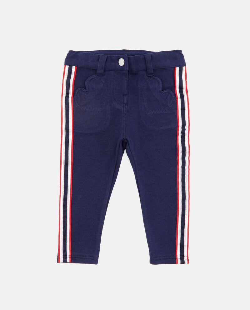 Pantaloni con bande laterali neonata