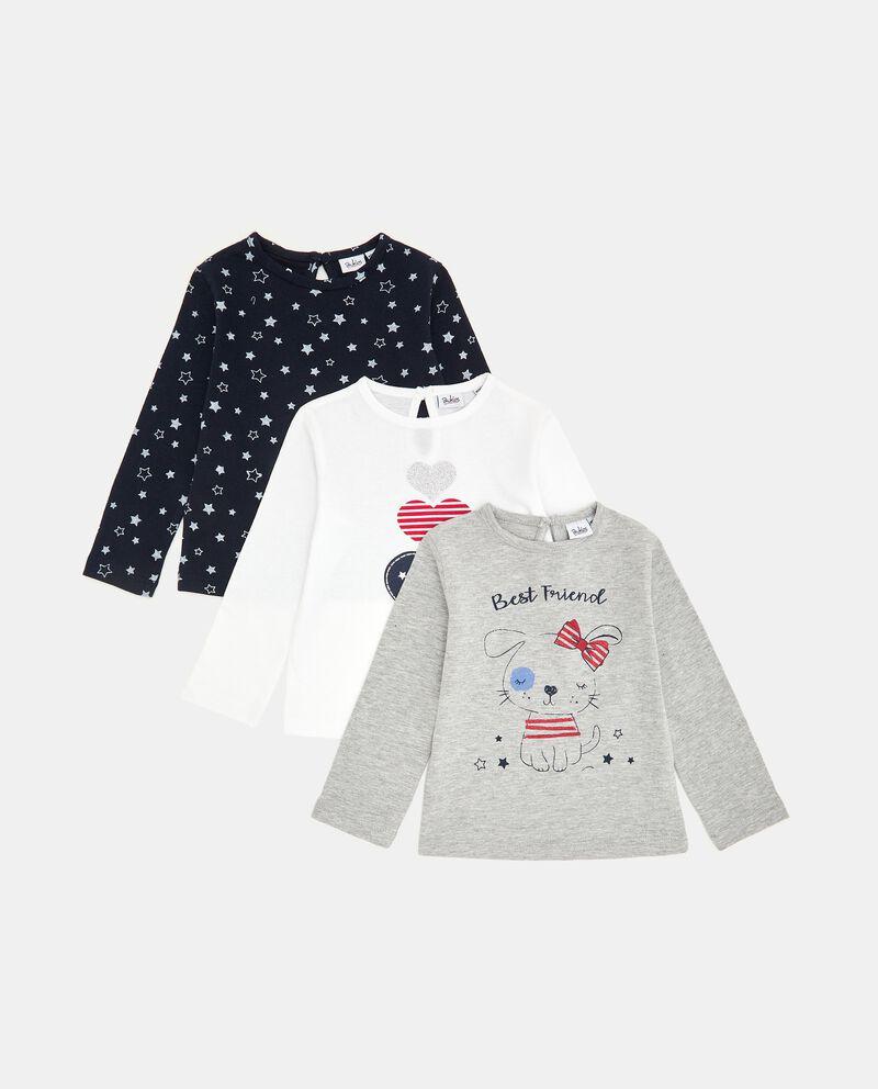 Pack con 3 t-shirt di cotone neonata cover