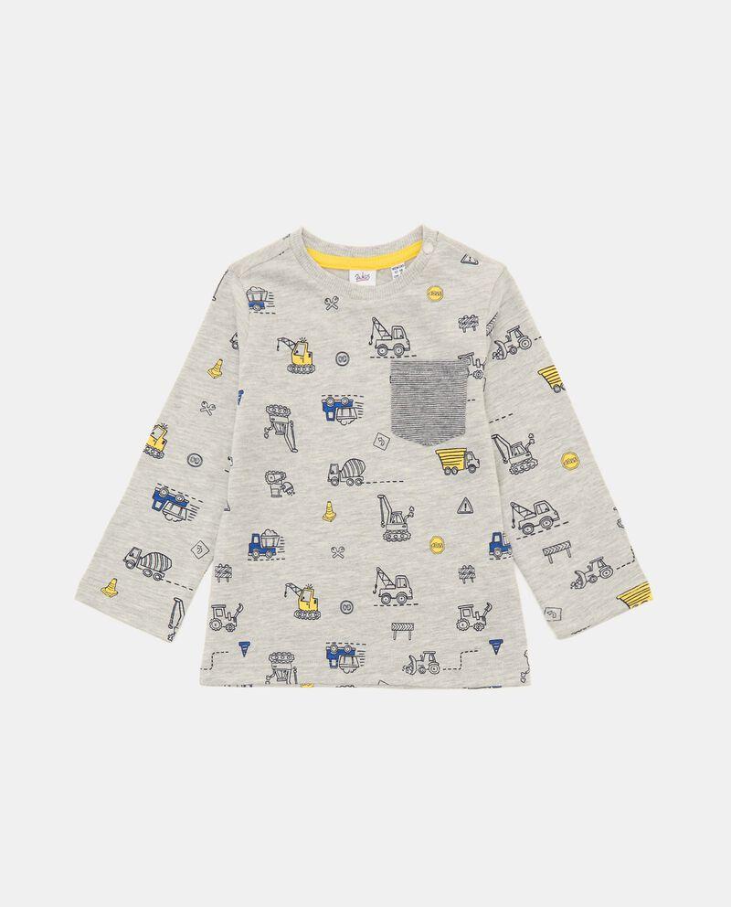T-shirt in cotone con taschino neonato cover