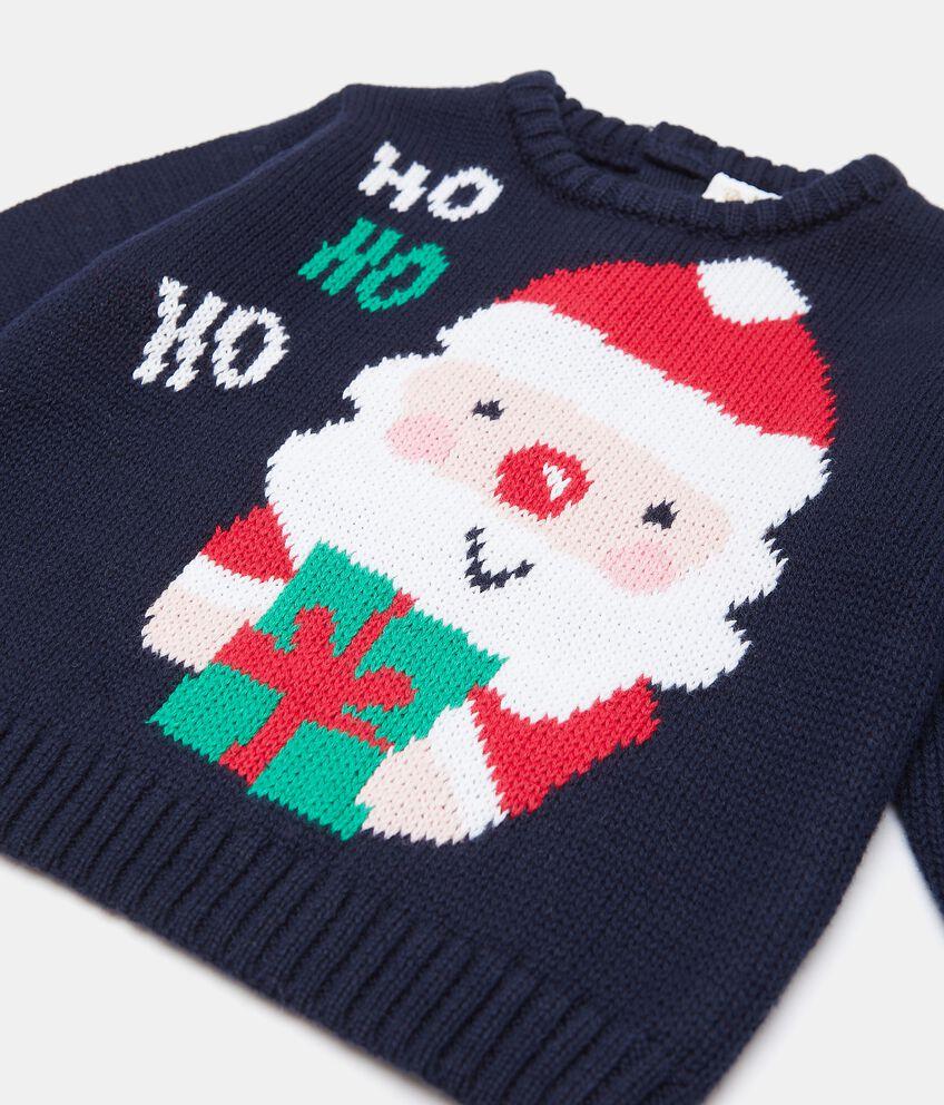 Maglioncino con Babbo Natale in puro cotone neonato