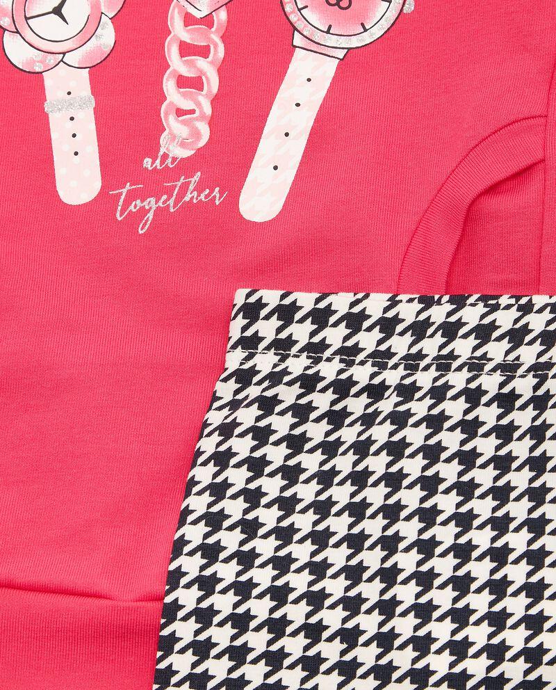Completino in cotone biologico maglia e leggings neonata