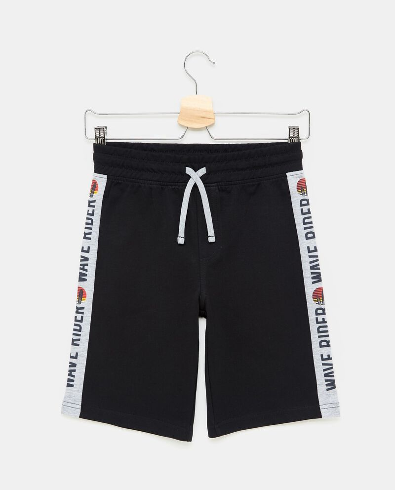 Shorts cotone e viscosa con stampa