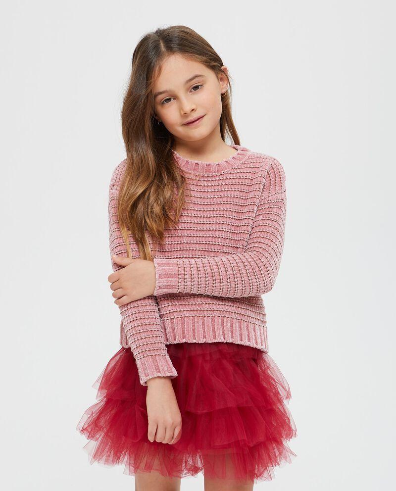 Maglione con righe lurex bambina