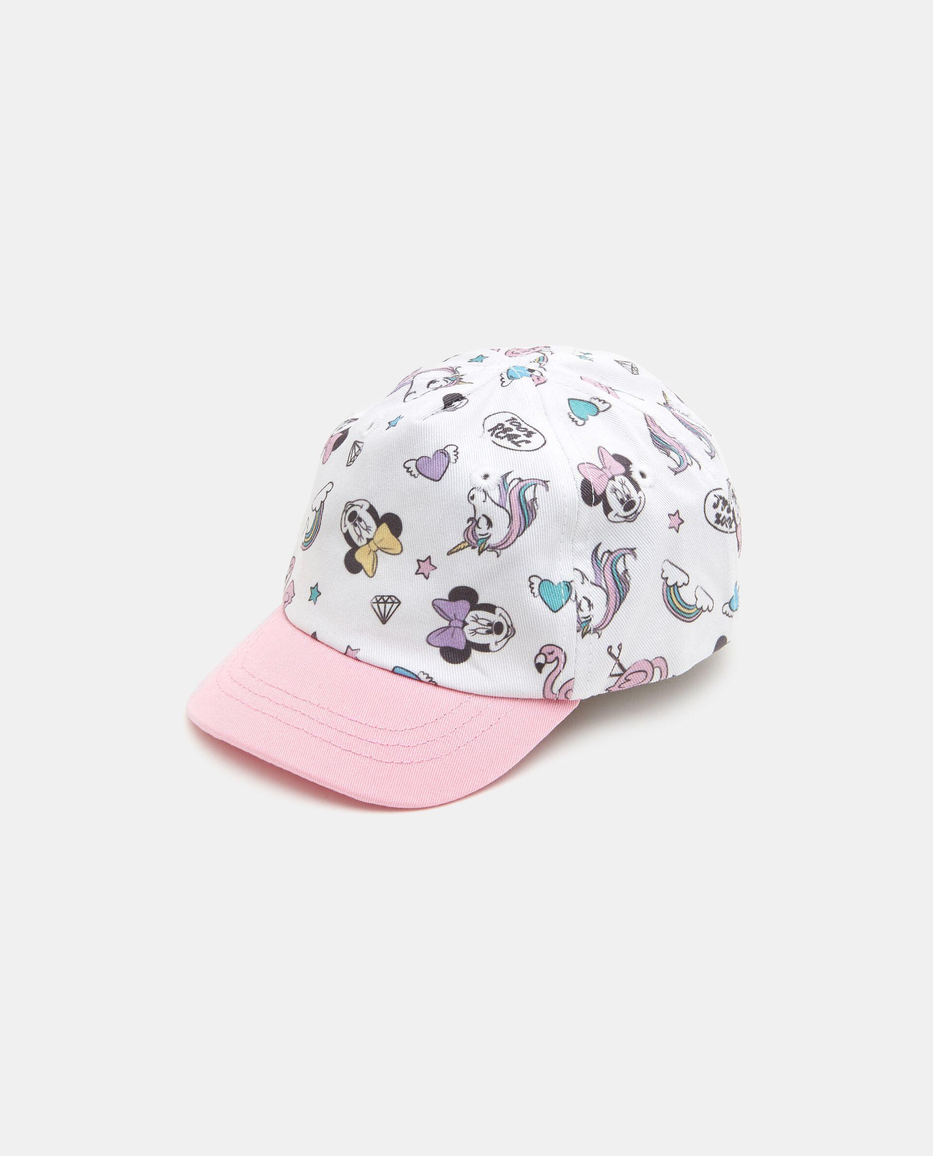 Cappellino con fantasia Minnie in puro cotone neonata
