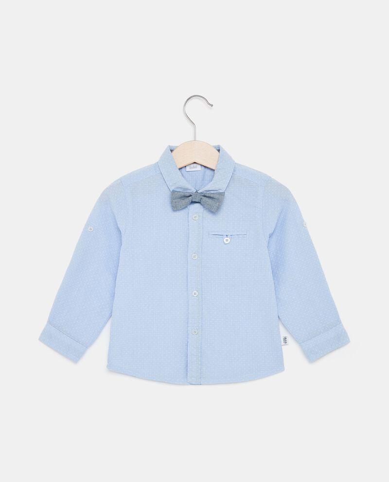 Camicia puro cotone a micro pois