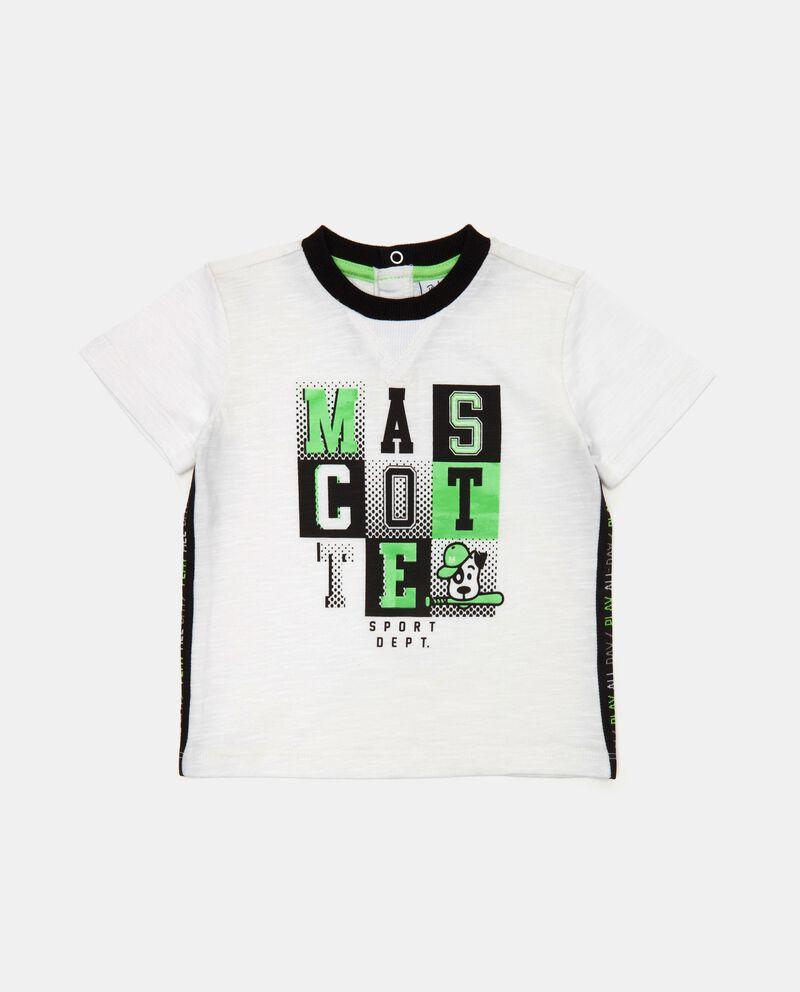 T-shirt con inserti a contrasto in cotone organico neonato cover