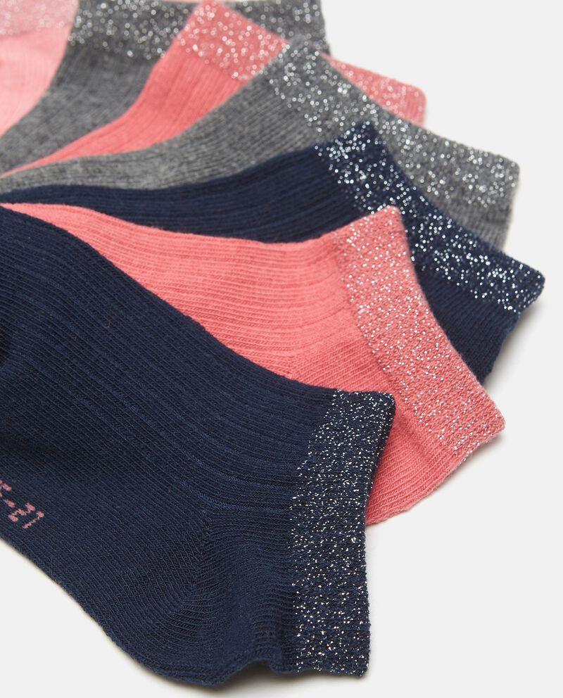 Set di 7 paia di calzini con filo lurex in cotone organico bambina single tile 1