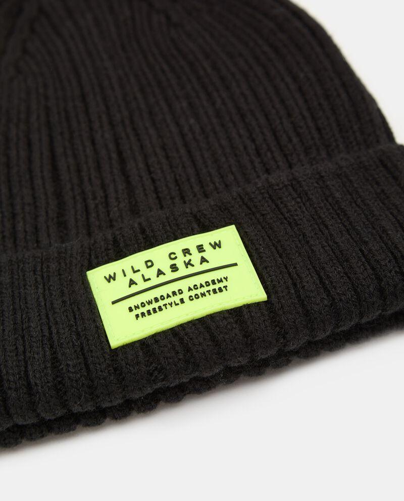Berretto tricot con patch gommato single tile 1