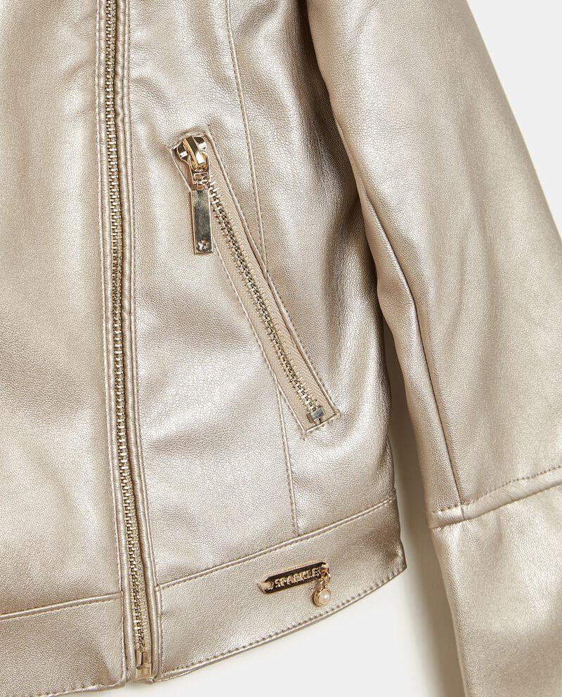 Giacca con zip metallizzata bambina