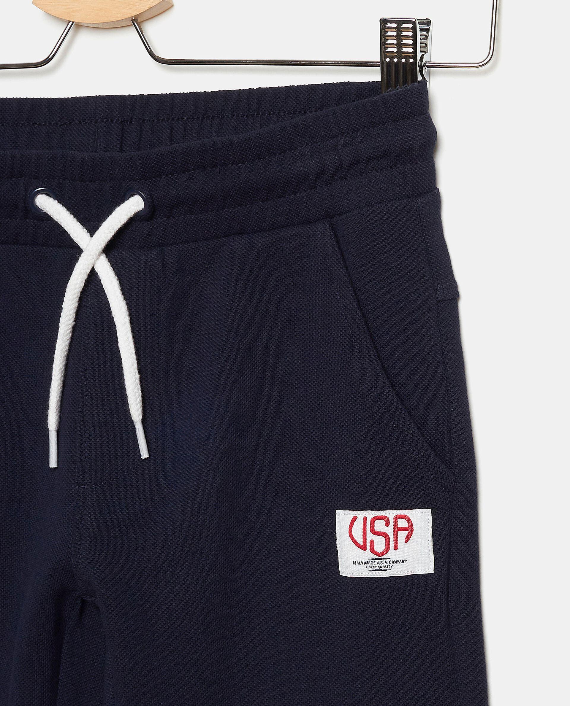 Pantaloni tinta unita in puro cotone bambino