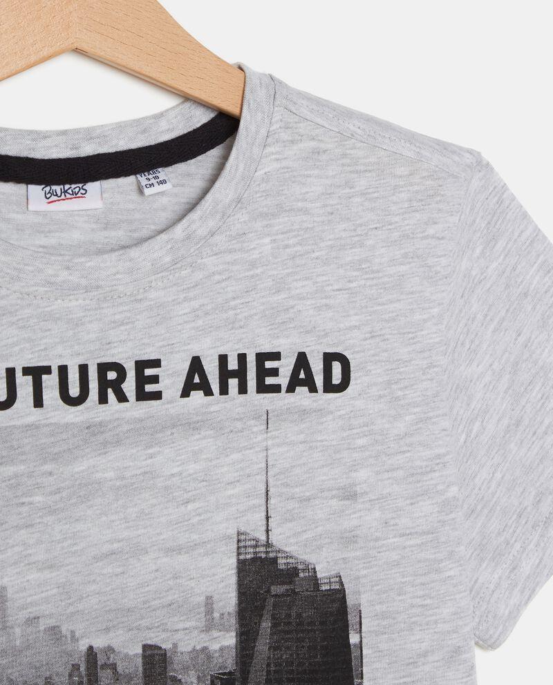 T-shirt con stampa città ragazzo single tile 1