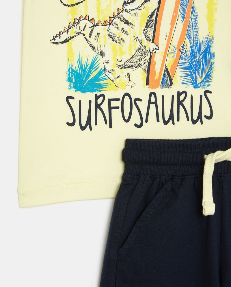 Set t-shirt e pantaloncini in puro cotone