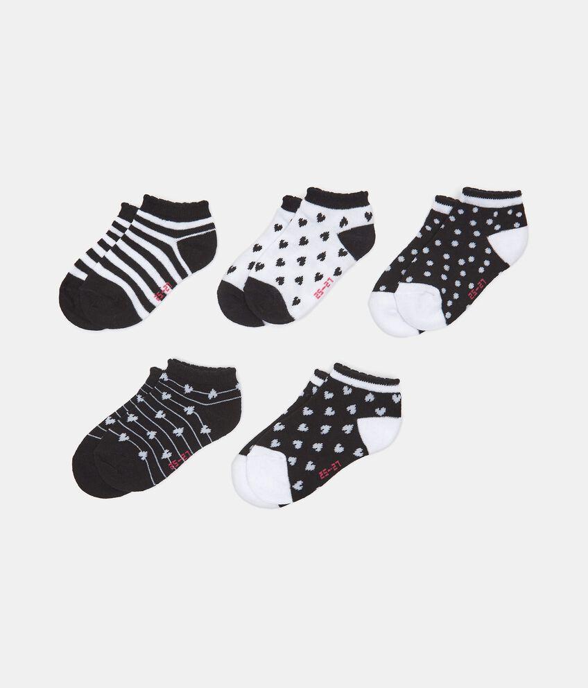 Set con 5 paia di calzini extra corti in cotone organico