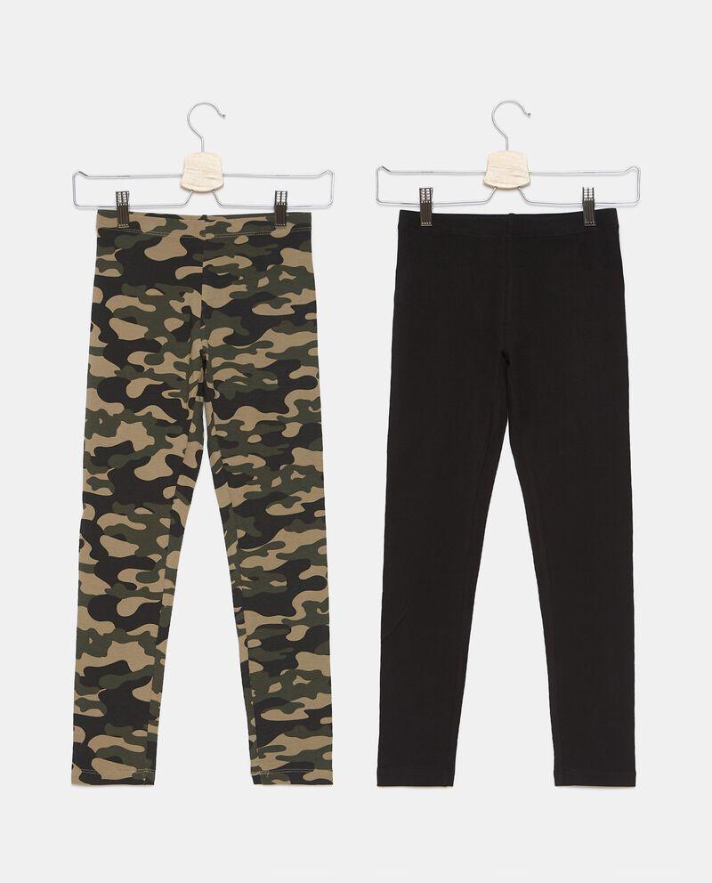 Bipack 2 leggings di cotone biologico stretch ragazza cover