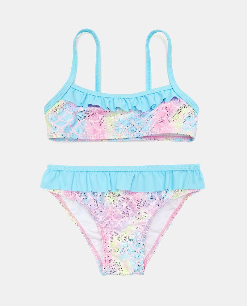 Costume bikini effetto iridescente neonata