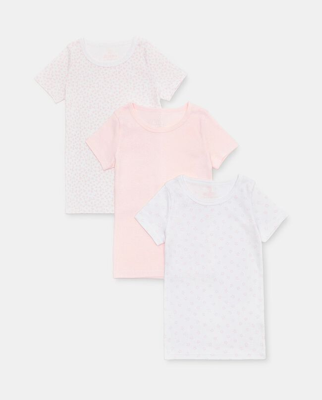 Set di 3 t-shirt intime di puro cotone biologico bambina carousel 0