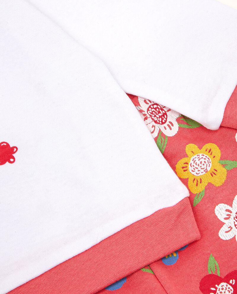Set pigiama di puro cotone stampato neonata