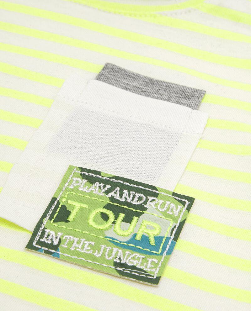 T-shirt con motivo a righe neonato single tile 1
