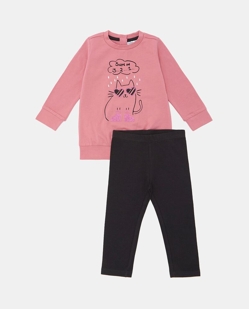 Set con maglia e leggings in cotone biologico neonata