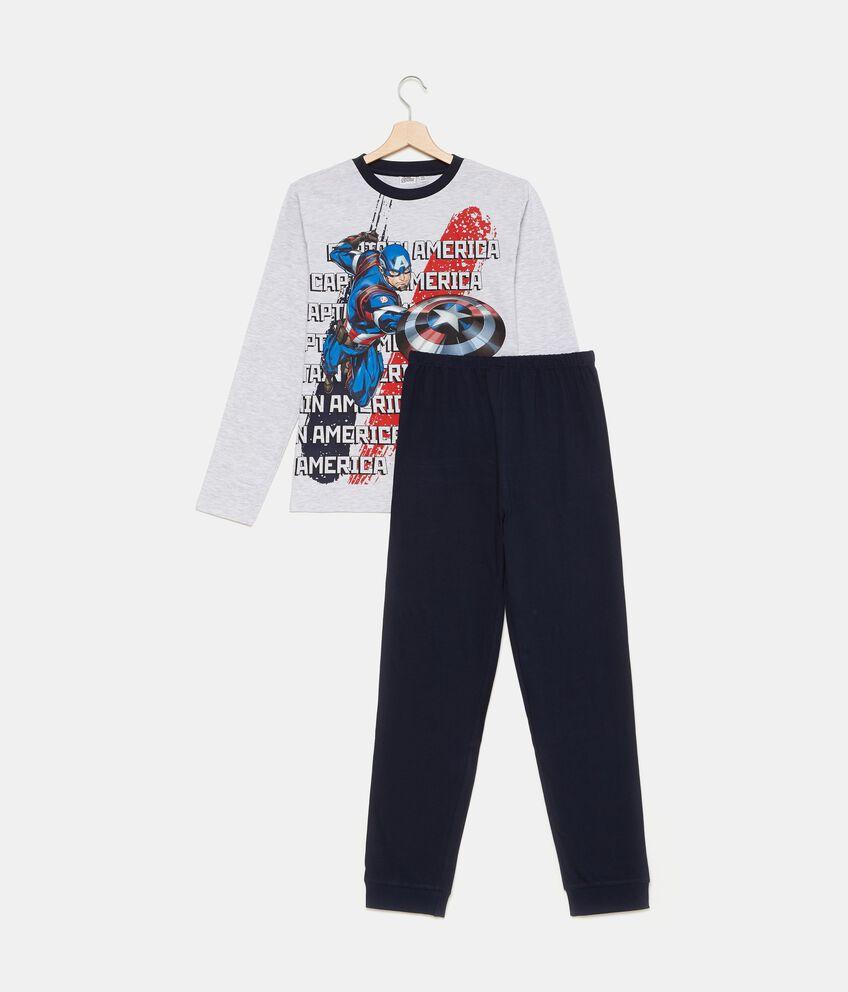 Set pigiama t-shirt e pantaloni in tinta unita ragazzo