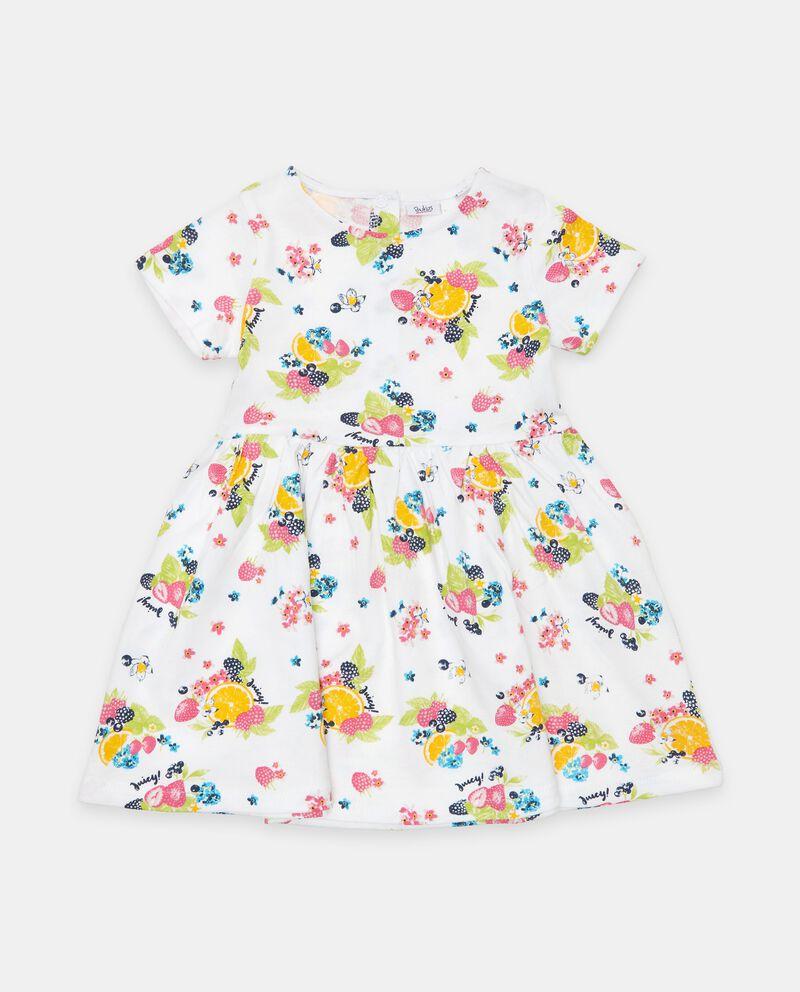 Vestito in cotone organico con stampa neonata