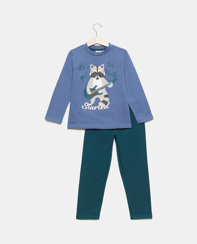 Set con maglia e pantaloni in puro cotone