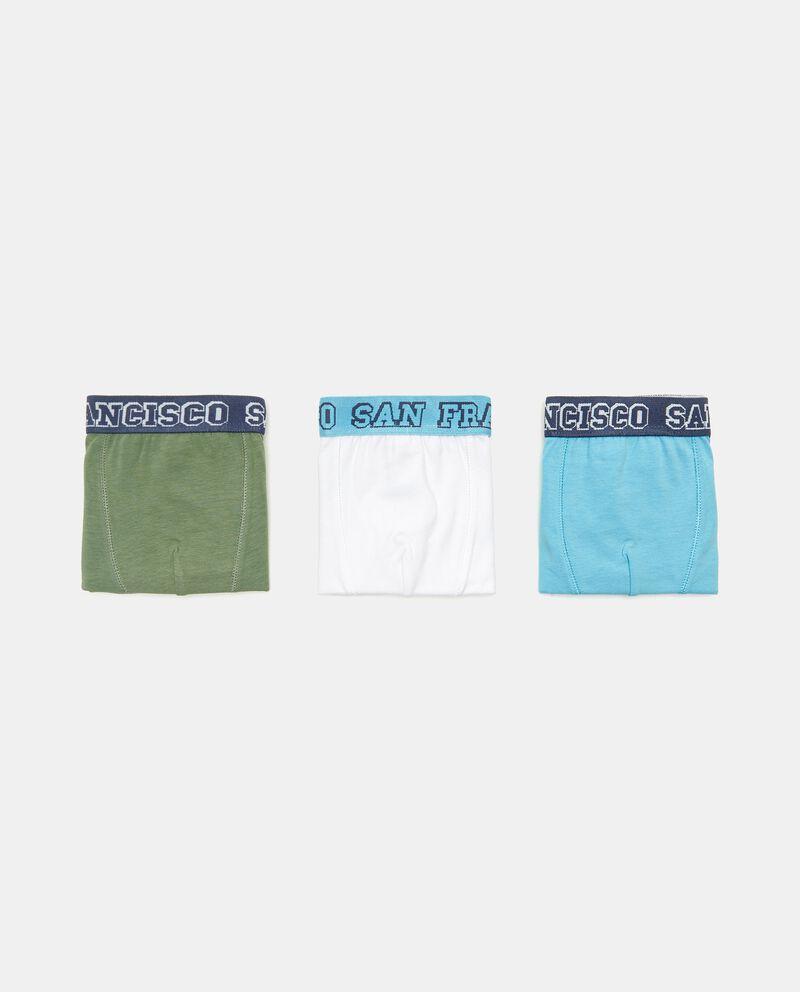 Set con 3 boxer in cotone elasticizzato bambinodouble bordered 0