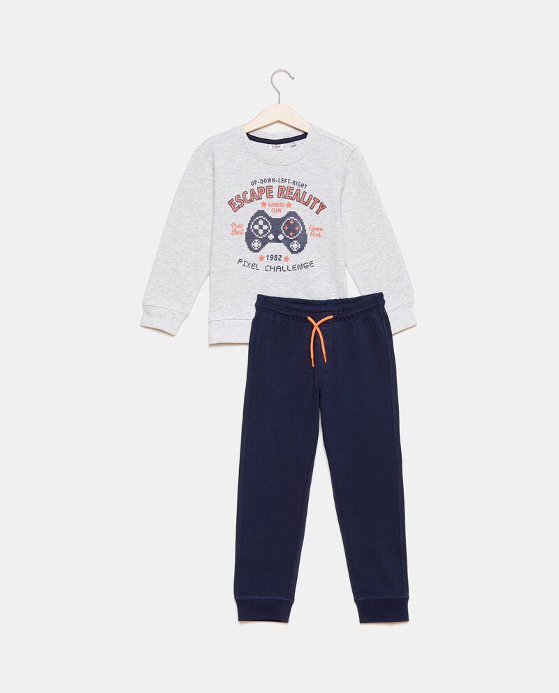 Set felpa stampata e pantaloni bambino