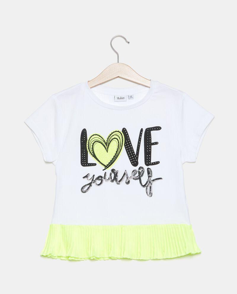 T-shirt in jersey cotone organico stretch ragazza