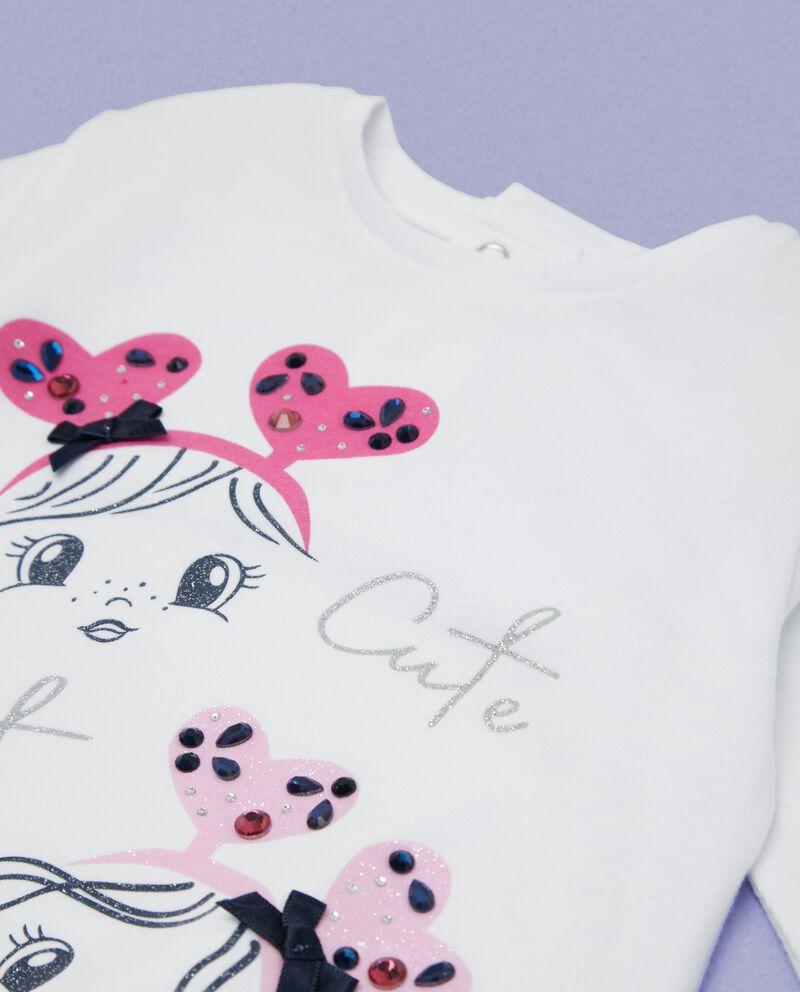 T-shirt elastico sul fondo neonata