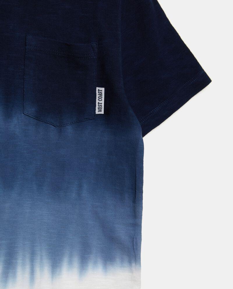 T-shirt in puro cotone con effetto degradé