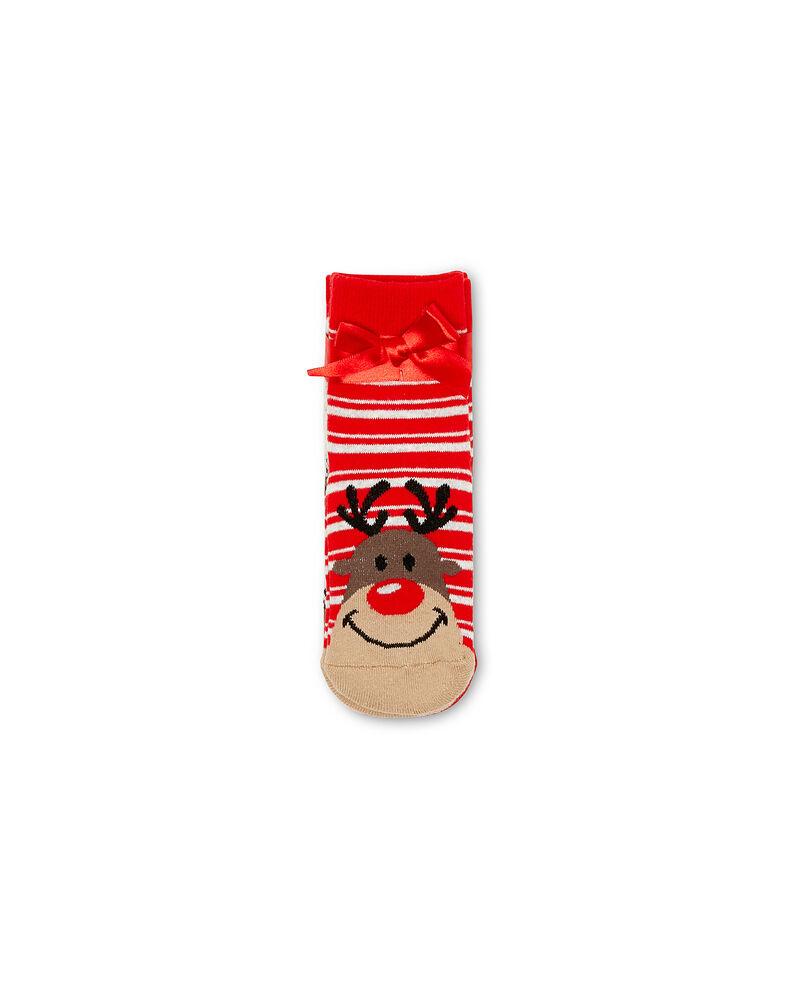 Set due calze antiscivolo fantasia renna