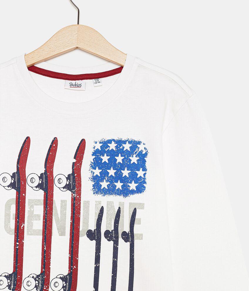 T-shirt con lettering di cotone organico ragazzo double 2