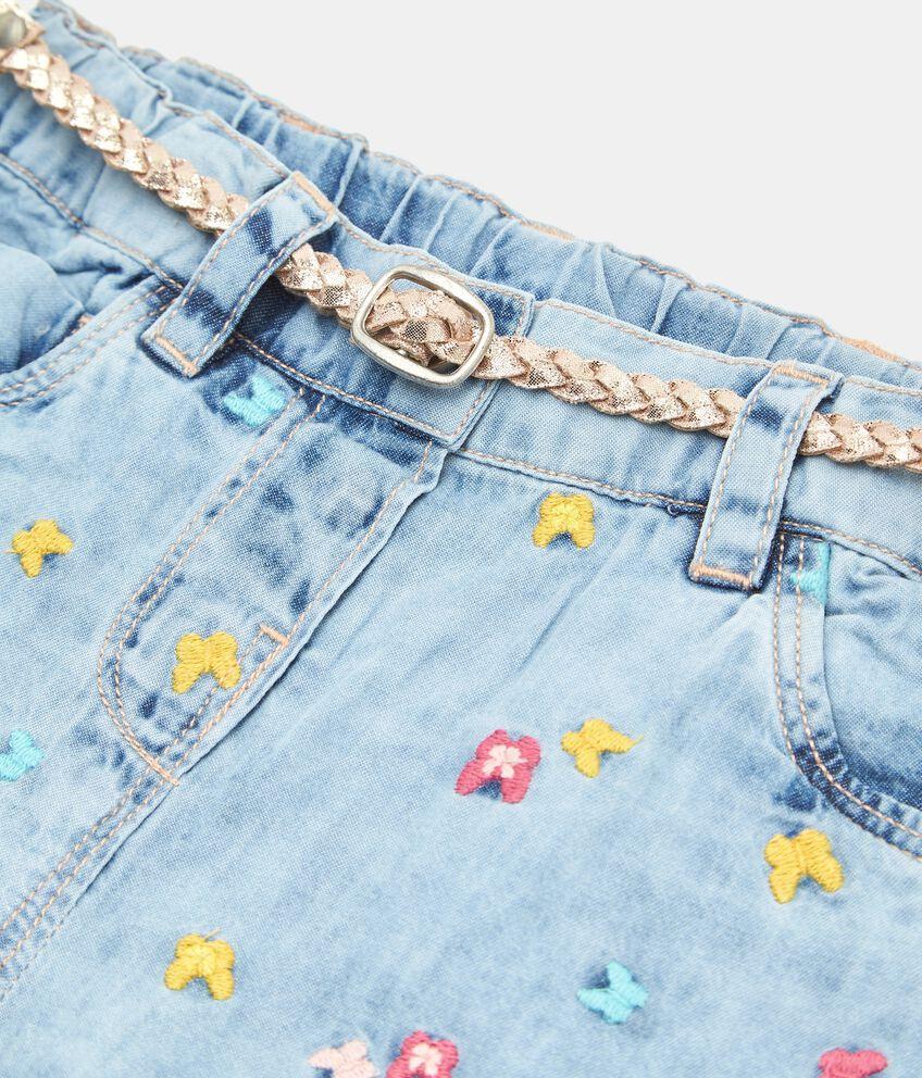 Shorts con ricami in puro cotone double 2