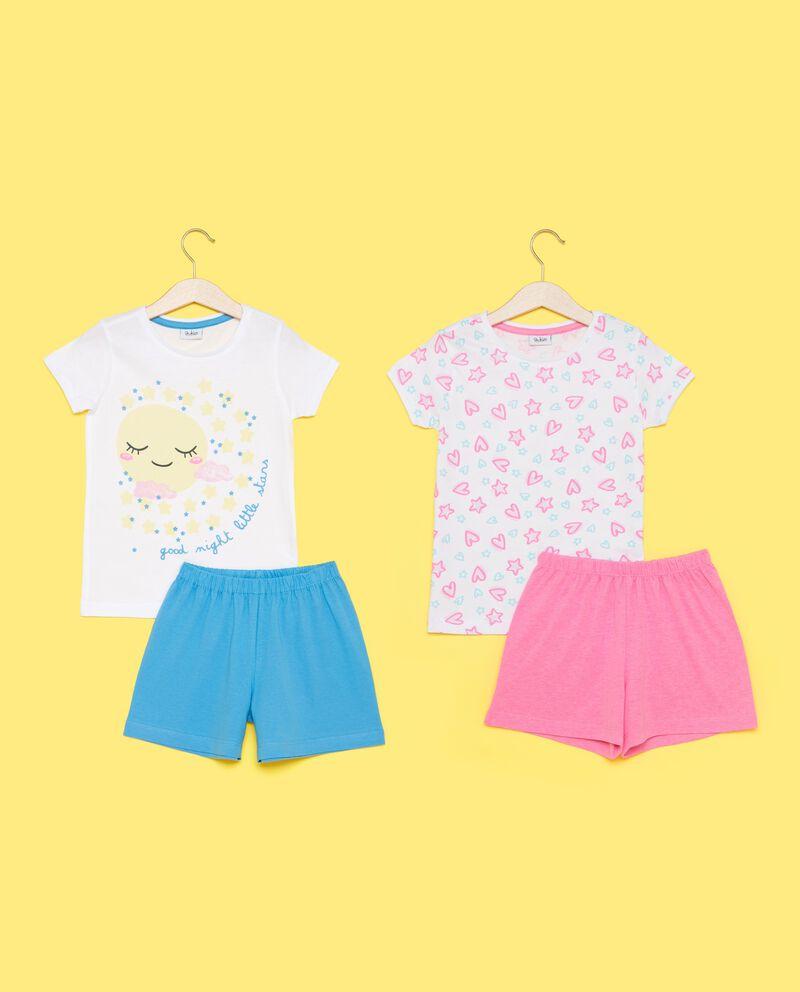 Bipack pigiami t-shirt maniche corte e shorts bambina