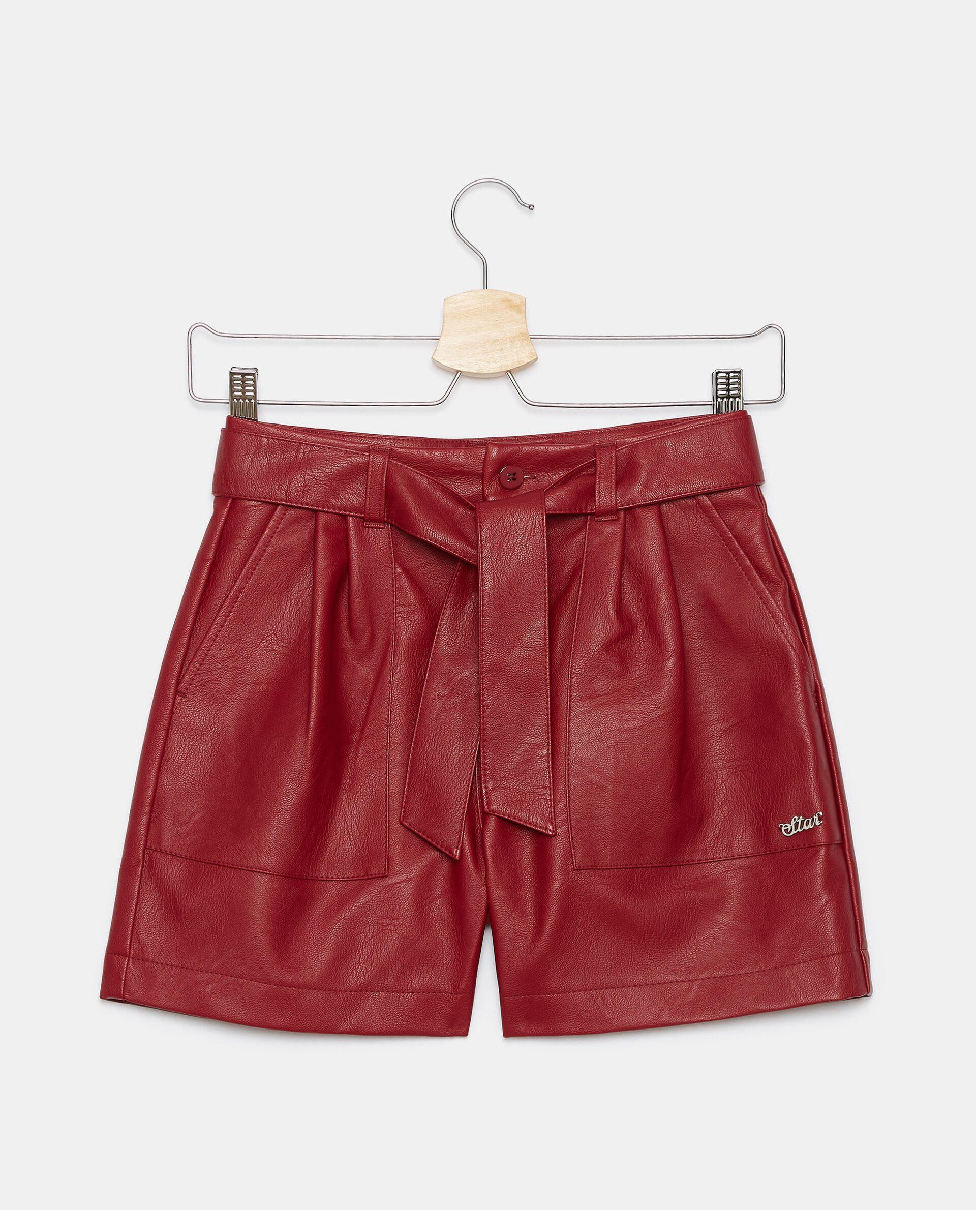 Shorts in eco pelle ragazza