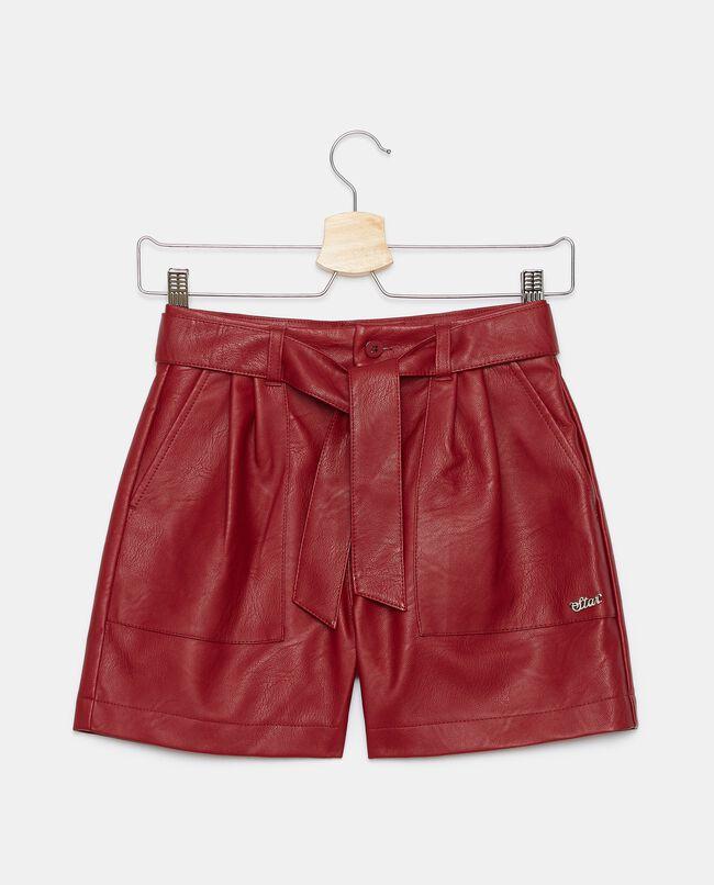 Shorts in eco pelle ragazza carousel 0