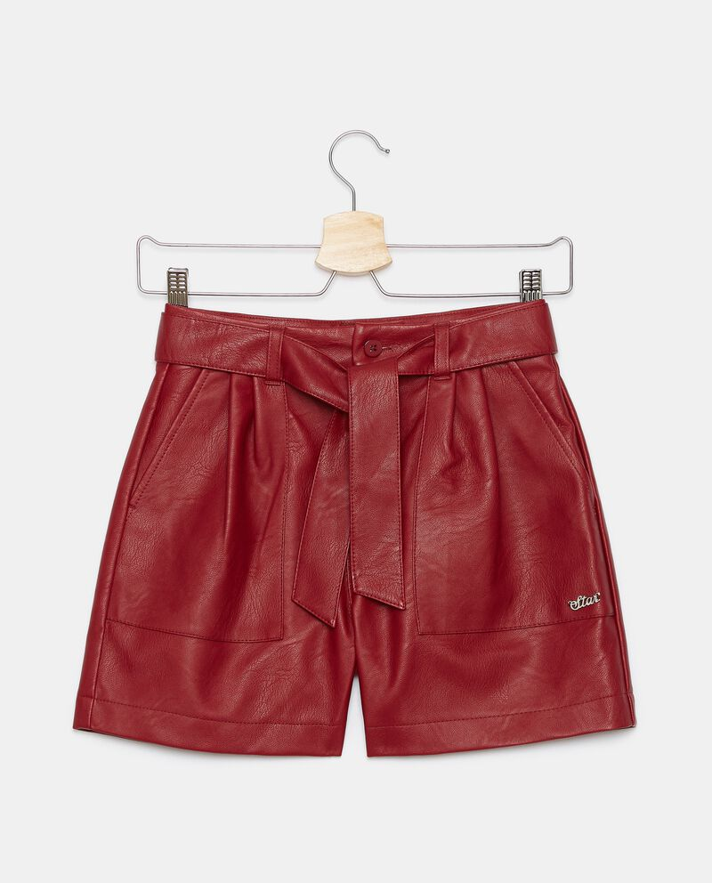 Shorts in eco pelle ragazza cover