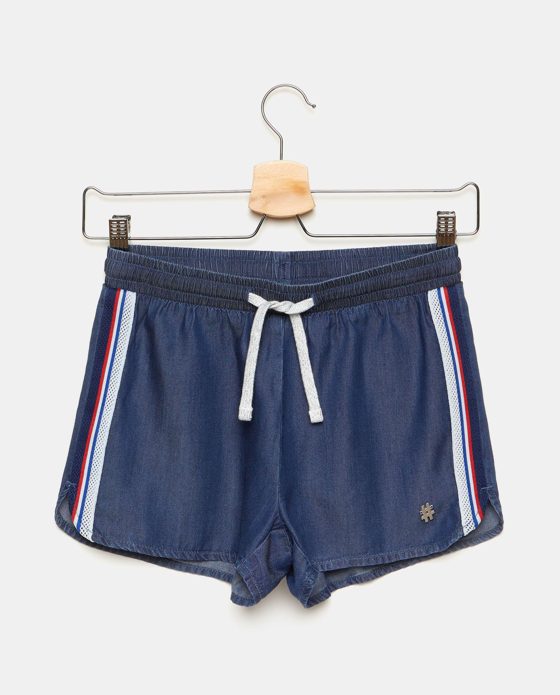 Shorts con bande laterali a righe