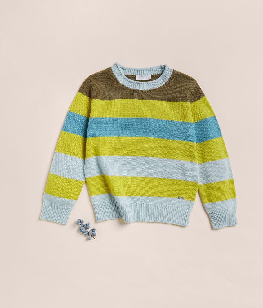 Maglioncino a righe in lana merino e cashmere double 1