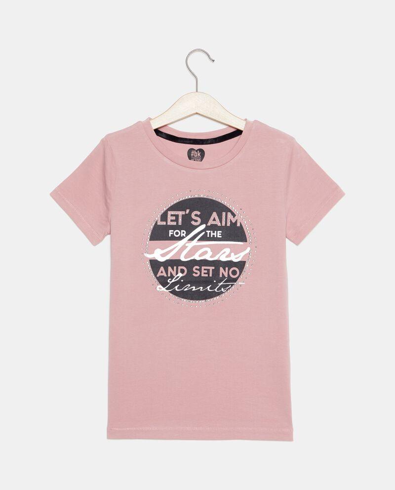 T-shirt a maniche corte con strass ragazza