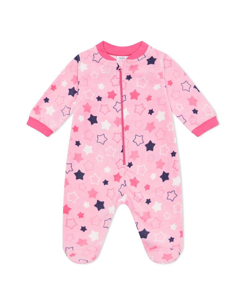 Tutina pigiama con zip e fantasia stelle