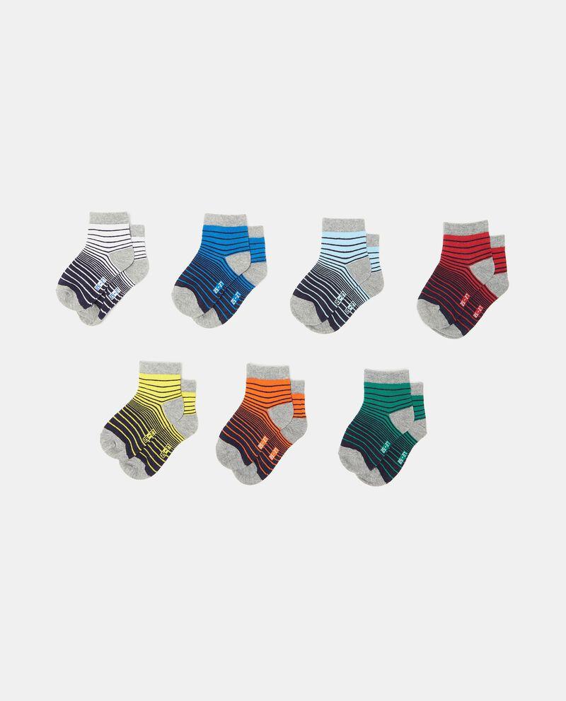 Set di 7 paia di calzini in cotone organico bambinodouble bordered 0