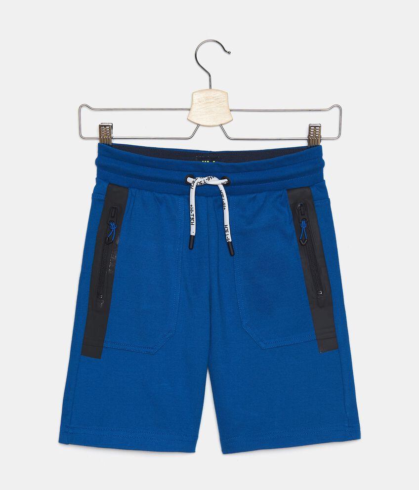 Shorts in felpa leggera di cotone organico ragazzo