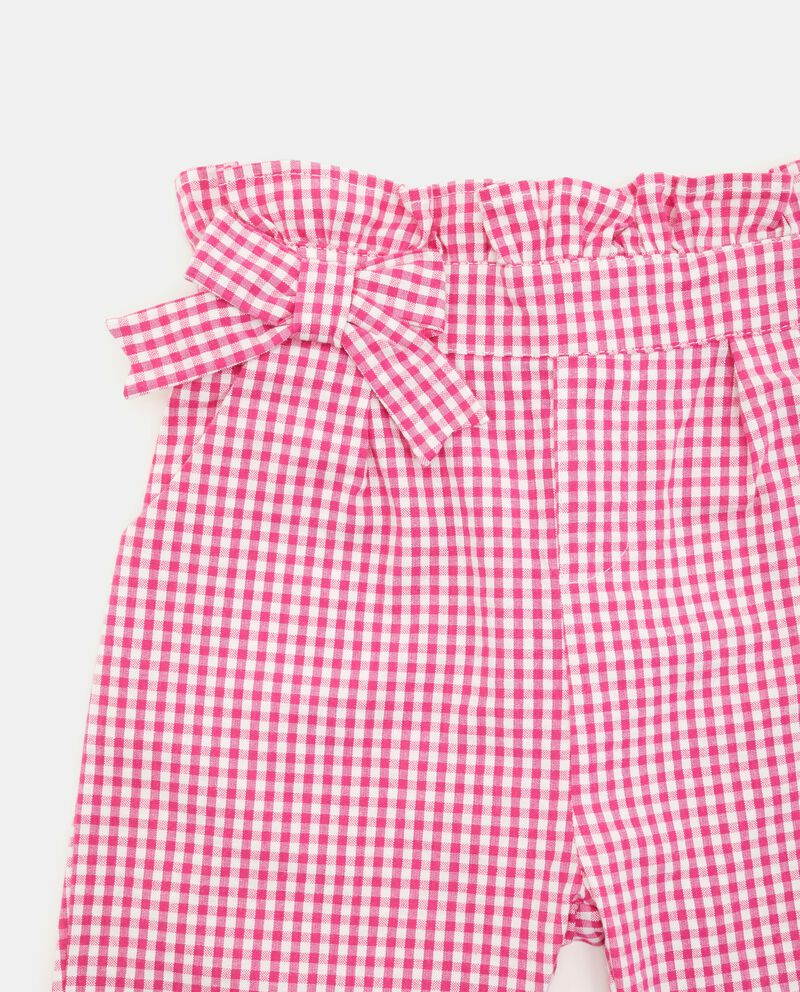 Pantaloni con motivo a quadri neonata single tile 1