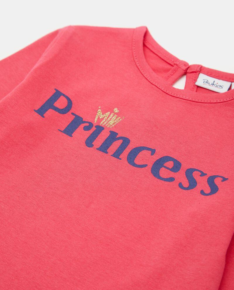 T-shirt con stampa in cotone neonata single tile 1