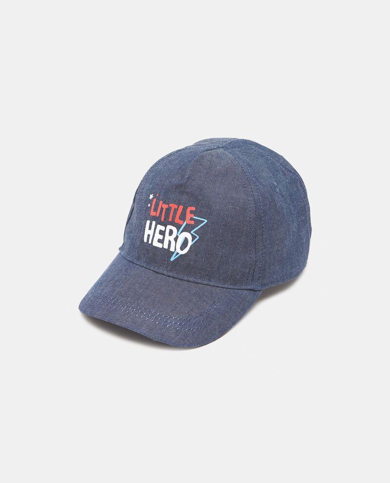Cappellino con visiera e lettering Little Hero