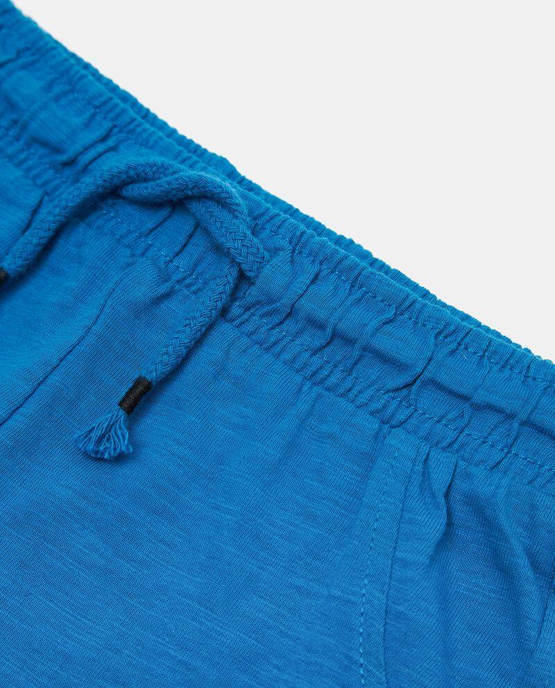 Pantaloni con cordoncino in puro cotone neonato