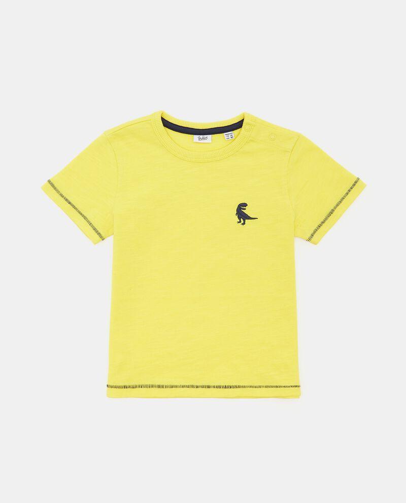 T-shirt in jersey slub di cotone organico neonato