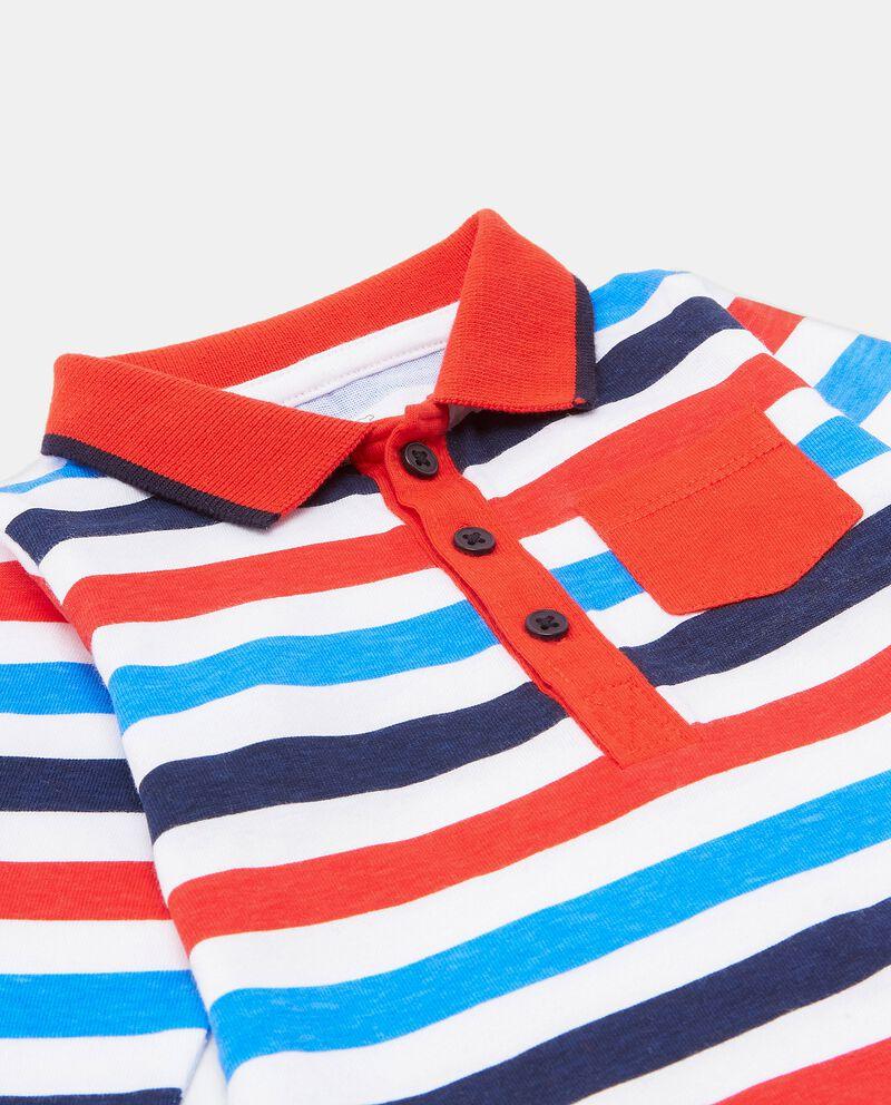Camicia body a righe in puro cotone neonato